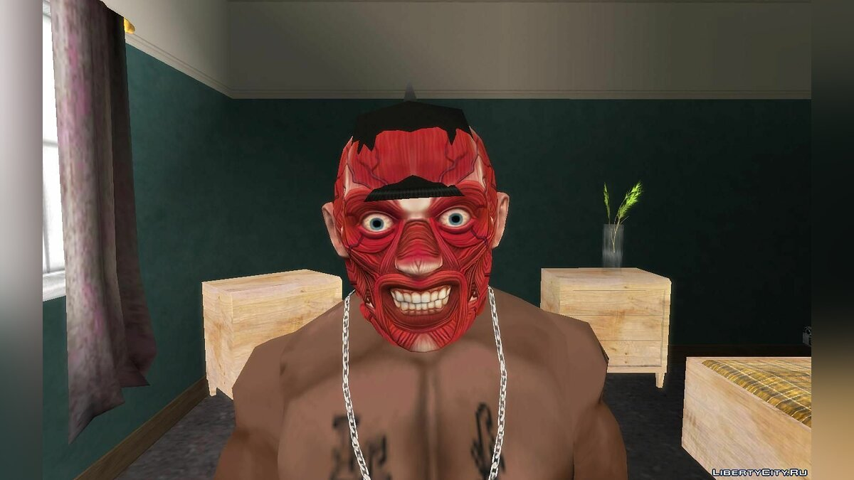 Hats Halloween Masks for Carl and Franklin for GTA San Andreas