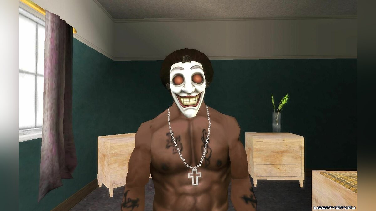 Hats Injustice Gods Among Us Jokers Clan Mask for GTA San Andreas
