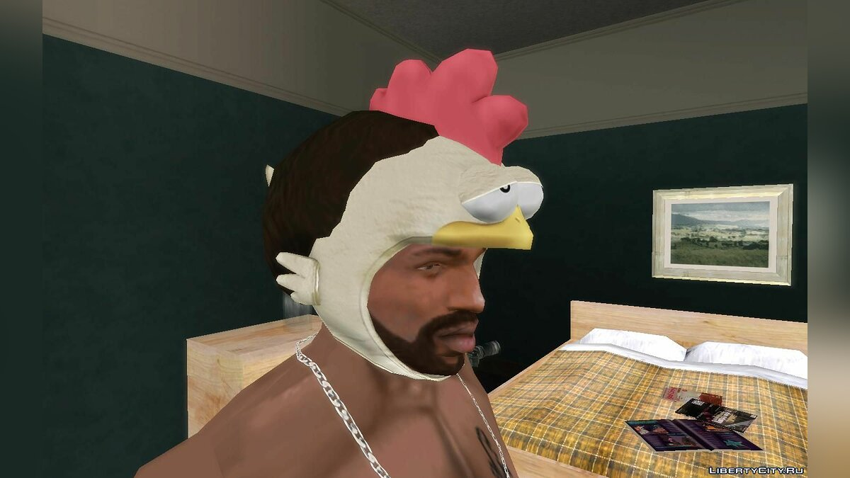 Hats Chicken hats for GTA San Andreas