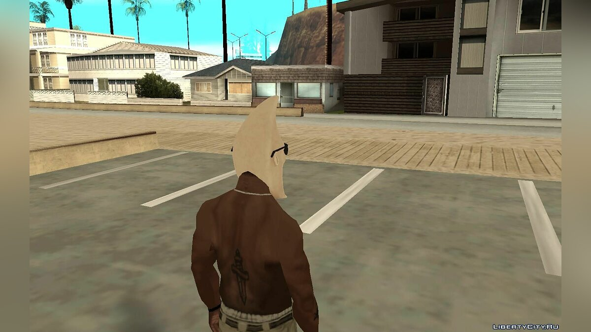 Hats Лунная маска для Карла for GTA San Andreas