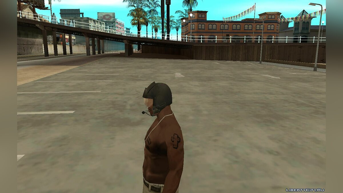 Hats Шлем пилота из игры Resident Evil 5 for GTA San Andreas