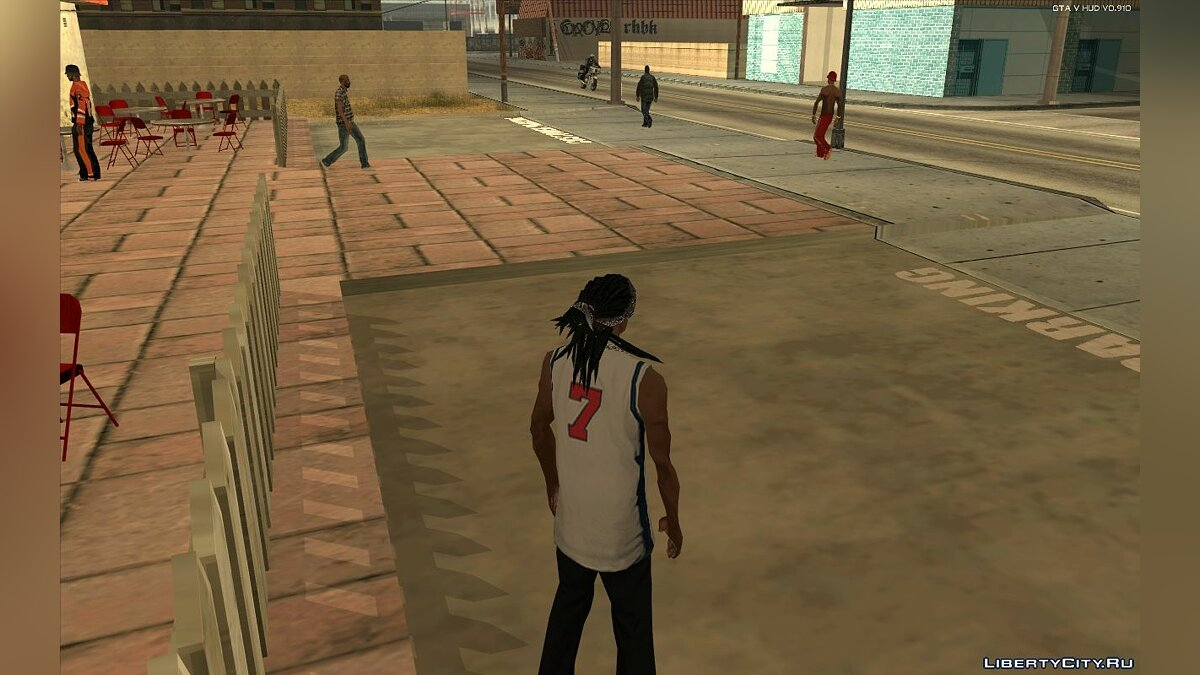 Haircut and beard Walley's Dreads With Bandana for CJ for GTA San Andreas