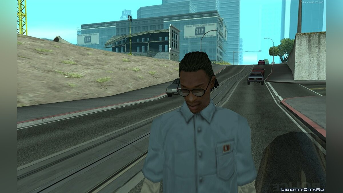 Haircut and beard Walley's Lil Wayne Ponytail conversion for CJ for GTA San Andreas