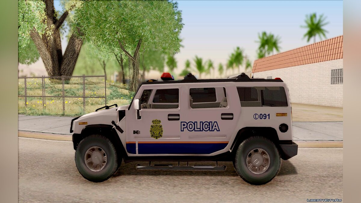 Hummer car Hummer H2 Police for GTA San Andreas
