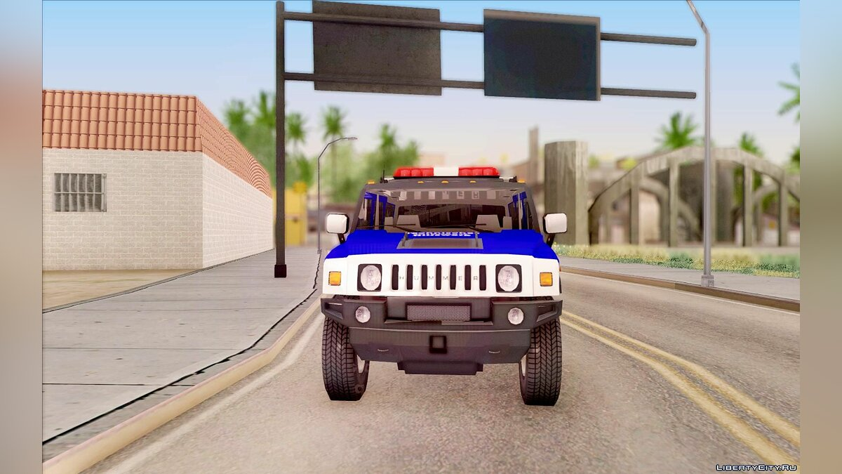 Hummer car THW Hummer H2 for GTA San Andreas