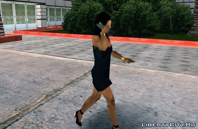 Peds walk with Phone for GTA San Andreas (iOS, Android)