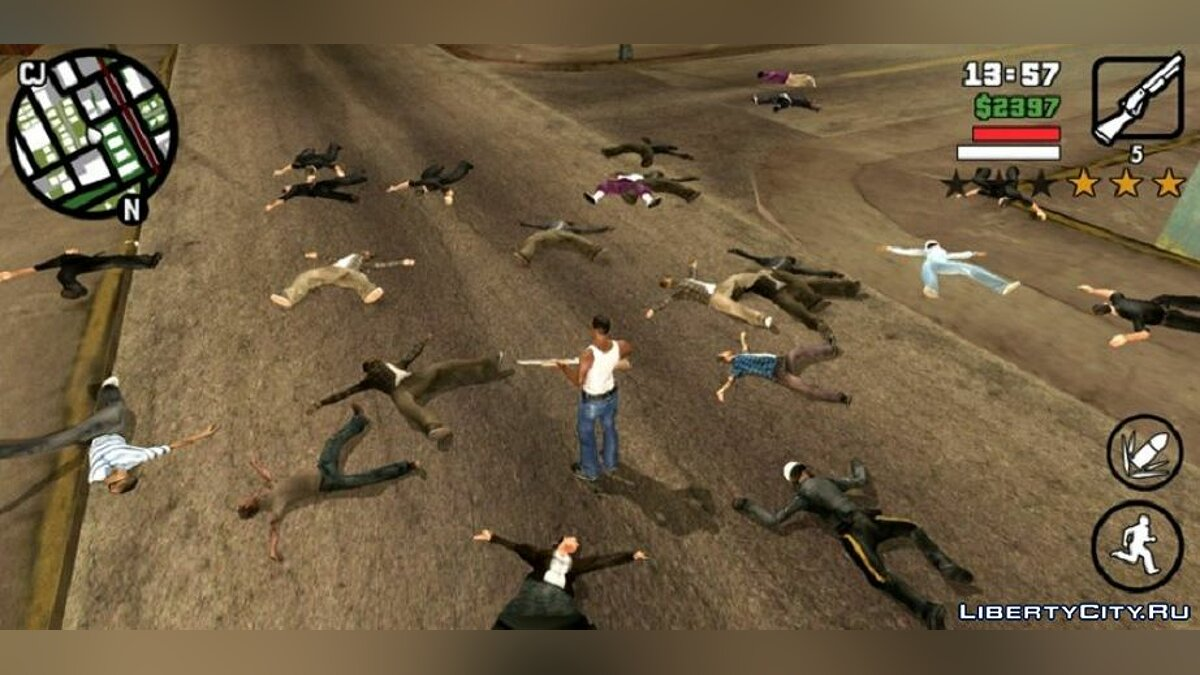 CLEO script Corpses of people do not disappear for GTA San Andreas (iOS, Android)