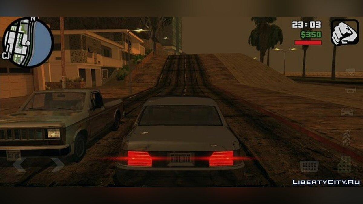 CLEO script Vehicle camera view in the style of GTA 5 for GTA San Andreas (iOS, Android)
