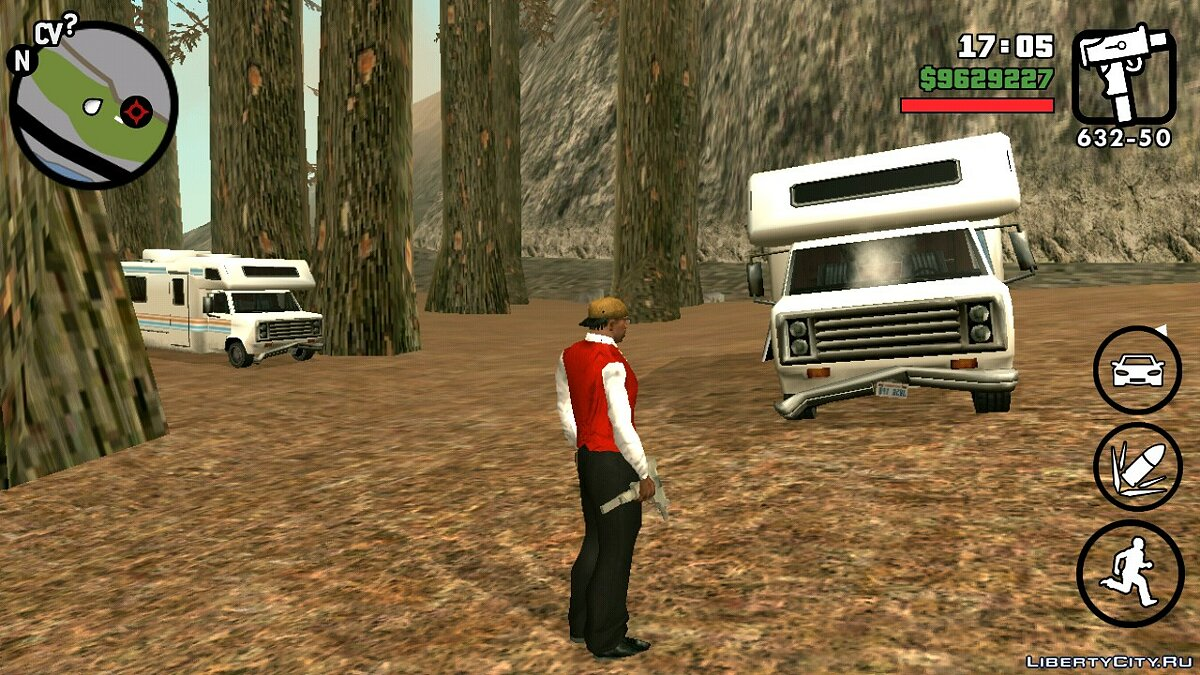 CLEO script Tourists on Mount Chilliad for GTA San Andreas (iOS, Android)