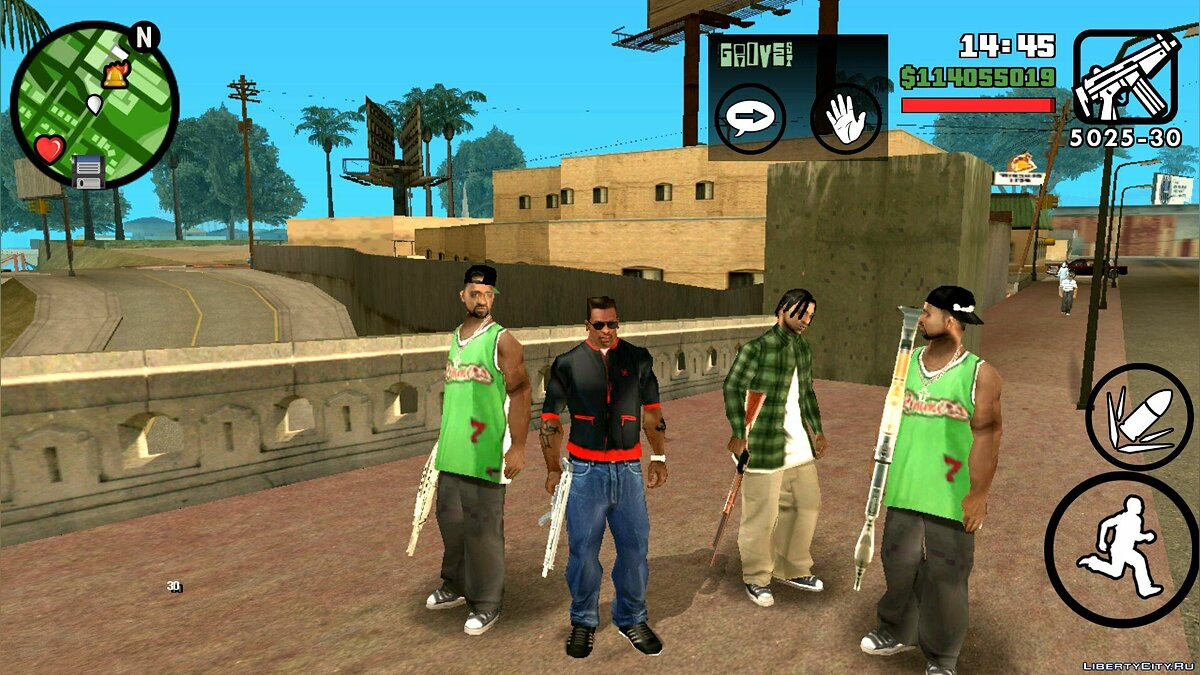 Arming the gang for GTA San Andreas (iOS, Android)