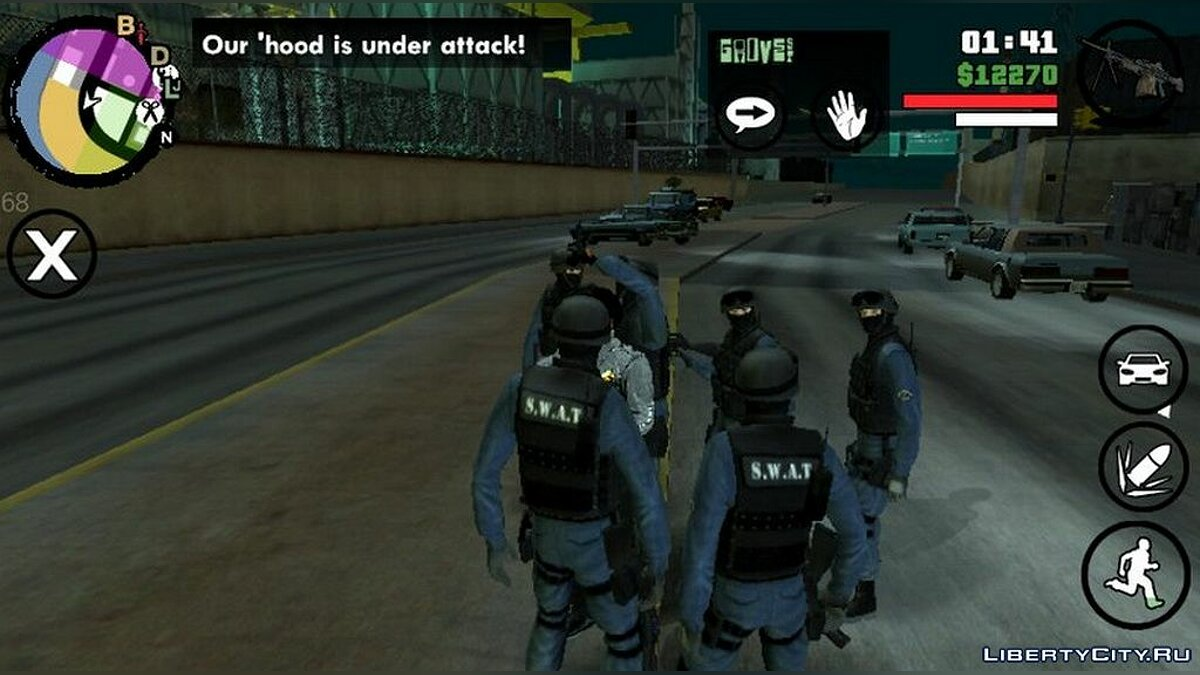 CLEO script 6 special forces to protect for GTA San Andreas (iOS, Android)