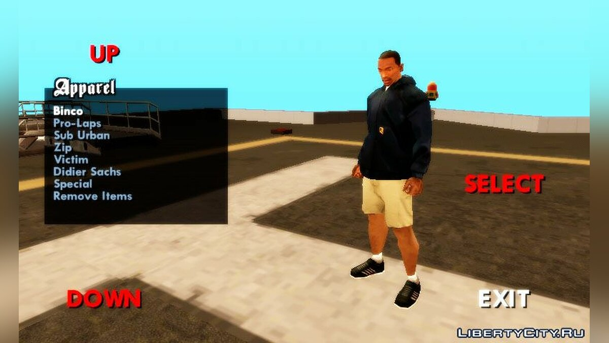 CLEO script Смена одежды for GTA San Andreas (iOS, Android)