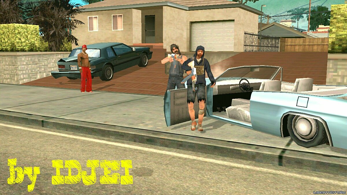 Hunting homeless people for CJ for GTA San Andreas (iOS, Android) - Картинка #3