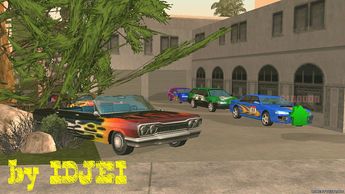 CLEO script Garage airbrush in LS for GTA San Andreas (iOS, Android)