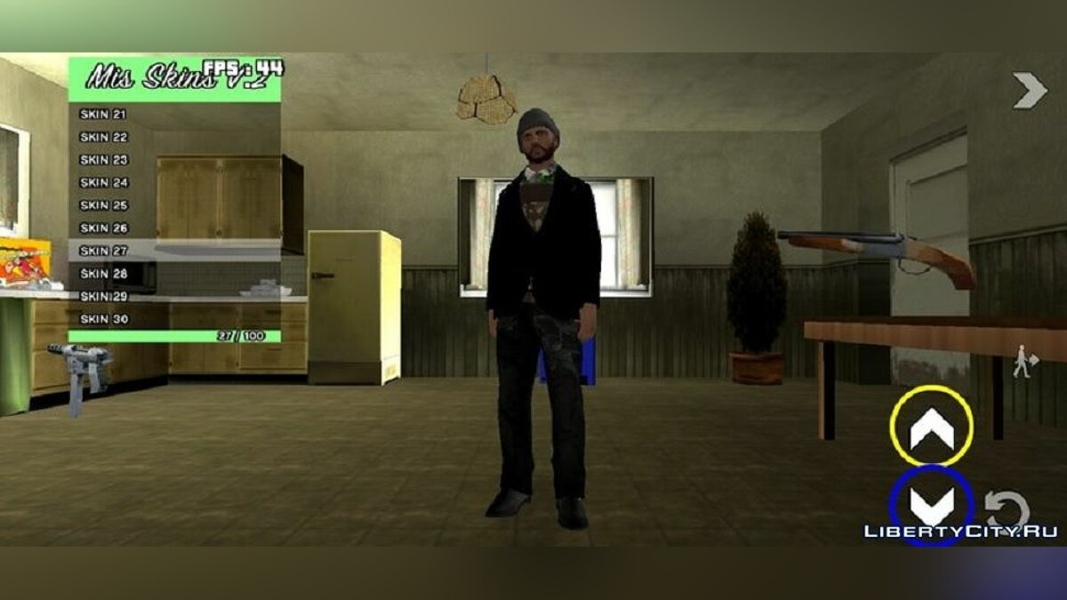 CLEO script Skin Selector (Ability to add new characters) V2 for GTA San Andreas (iOS, Android)