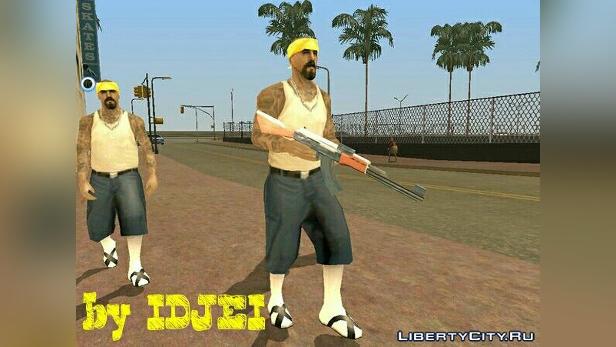 New weapons of gangs # 2 for GTA San Andreas (iOS, Android) - screenshot #3