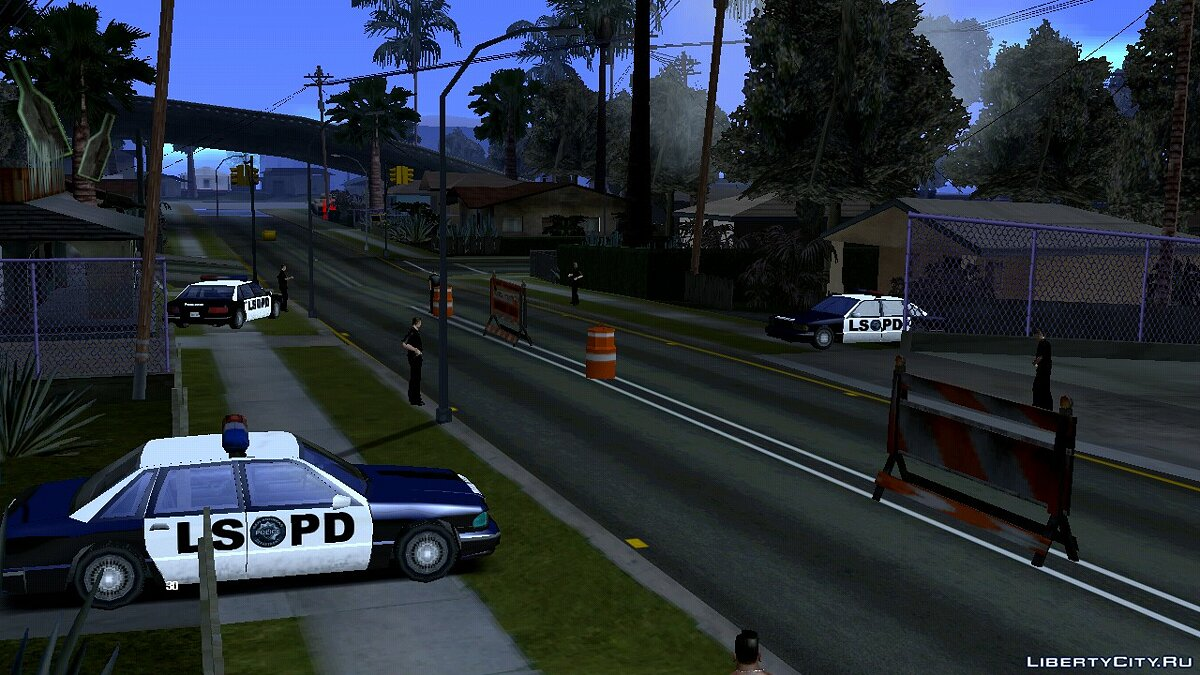 CLEO script Police checkpoint for GTA San Andreas (iOS, Android)