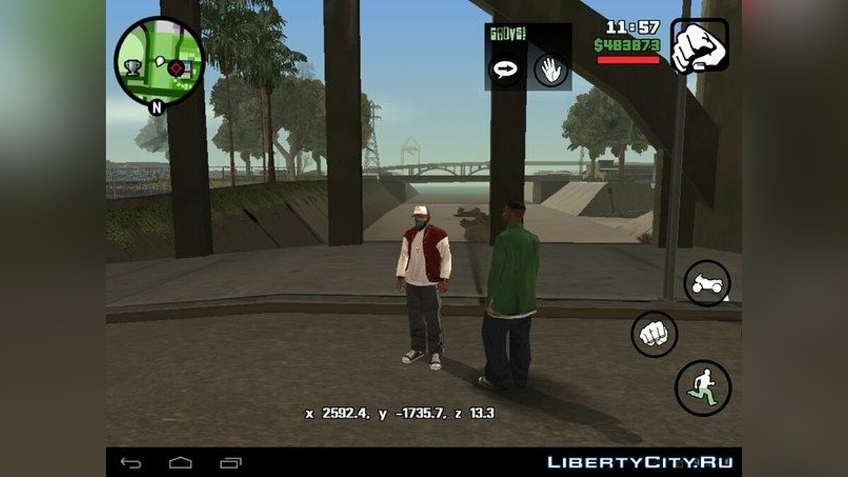 Coordinate Coordinate (Android) for GTA San Andreas (iOS, Android)