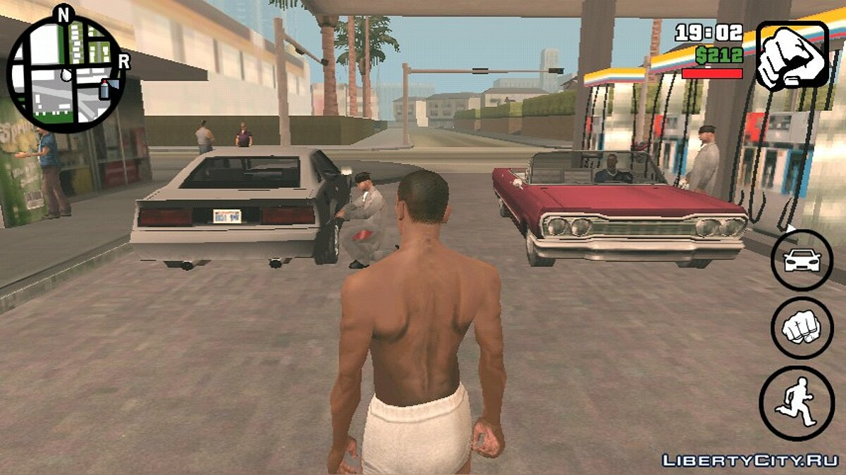 CLEO script Lively refueling in Los Santos (For Android) for GTA San Andreas (iOS, Android)