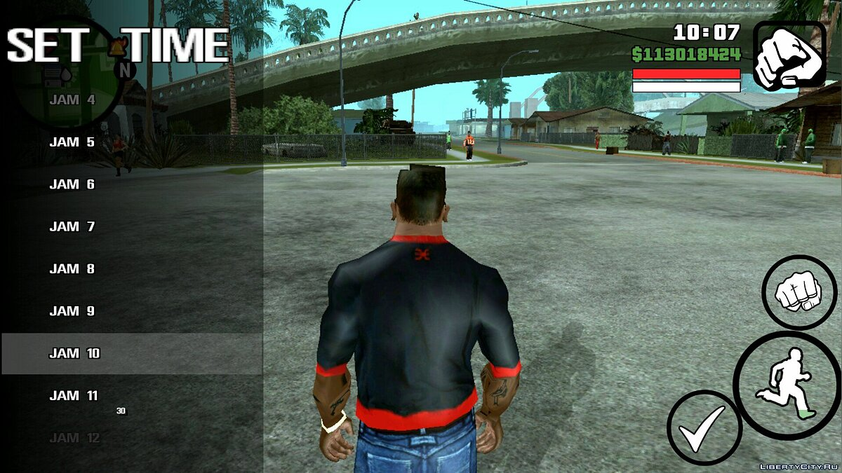 Set the time for GTA San Andreas (iOS, Android)