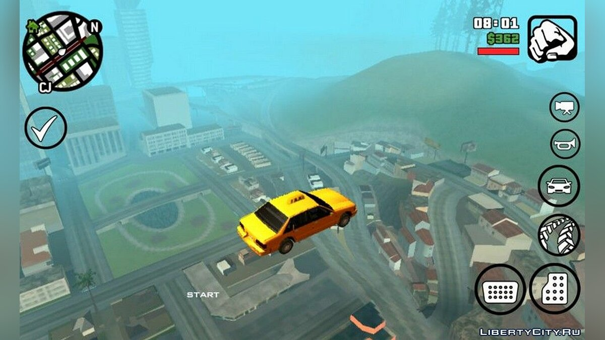 CLEO script Jumping cars for GTA San Andreas (iOS, Android)