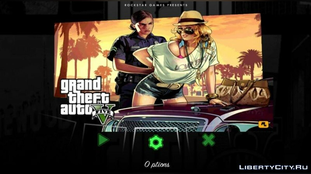 CLEO script GTA 5 HUD by DK22Pac for GTA San Andreas (iOS, Android)