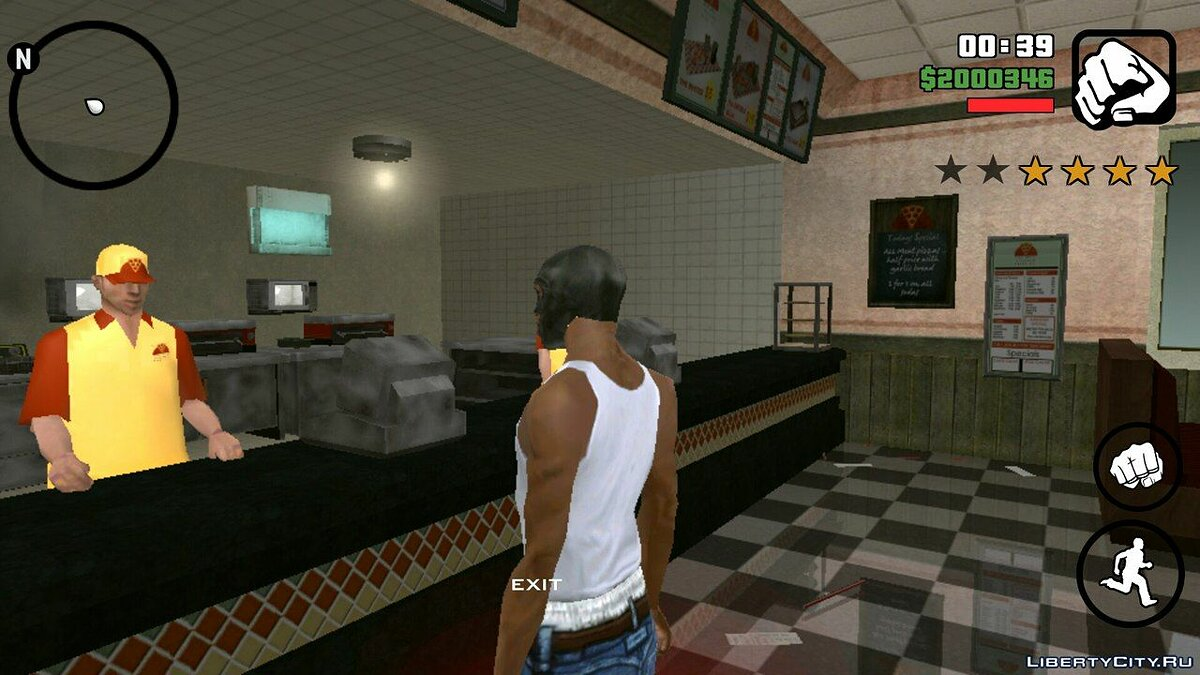 CLEO script The robbery of shops for GTA San Andreas (iOS, Android)
