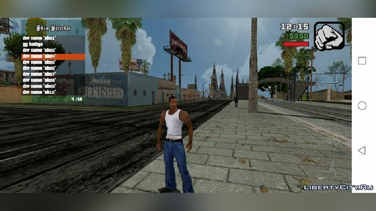 CLEO script Add a new skin without replacing [Skin Selector] for GTA San Andreas (iOS, Android)