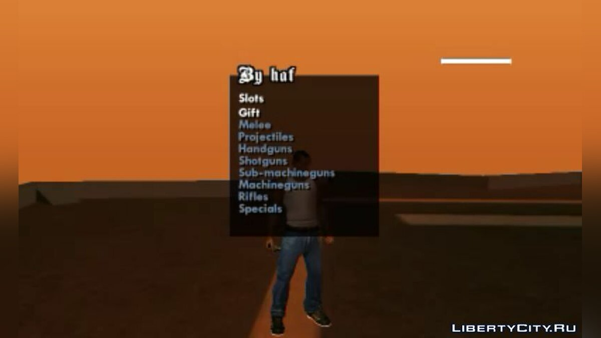Weapons Menu for Android for GTA San Andreas (iOS, Android)