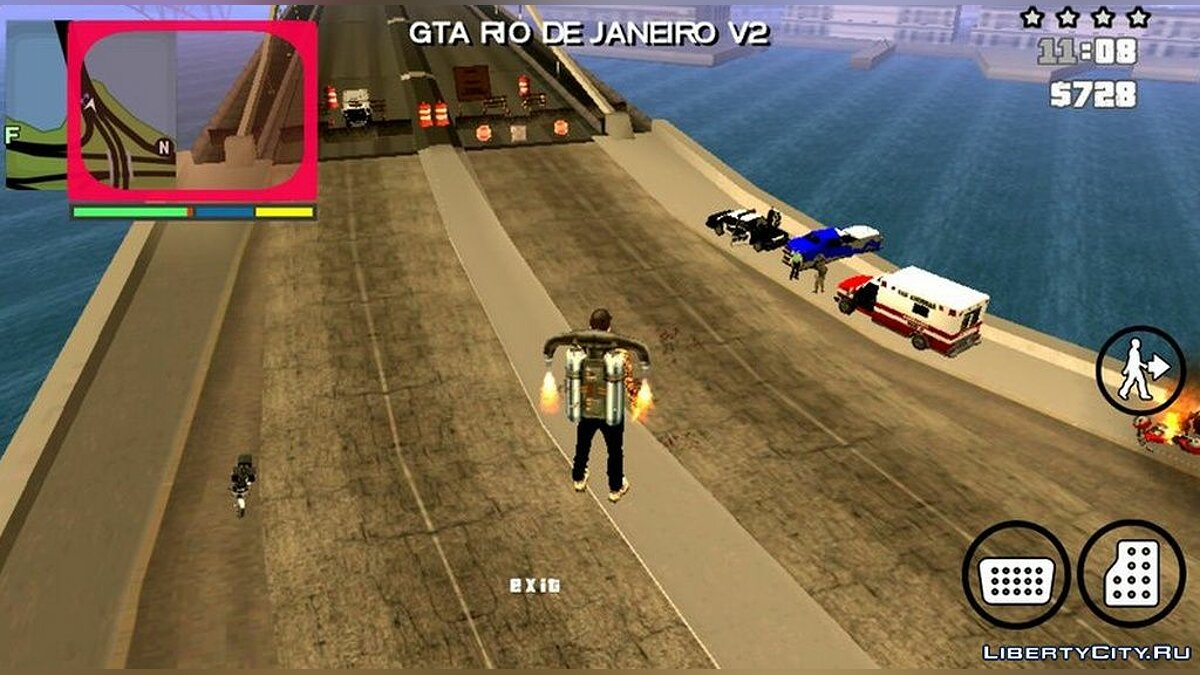 CLEO script Accident on the bridge in San Fierro for GTA San Andreas (iOS, Android)