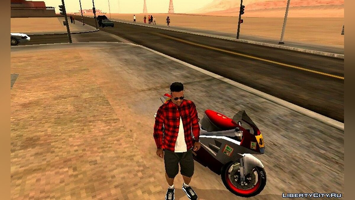 CLEO script Helmet for riding a motorcycle for GTA San Andreas (iOS, Android)