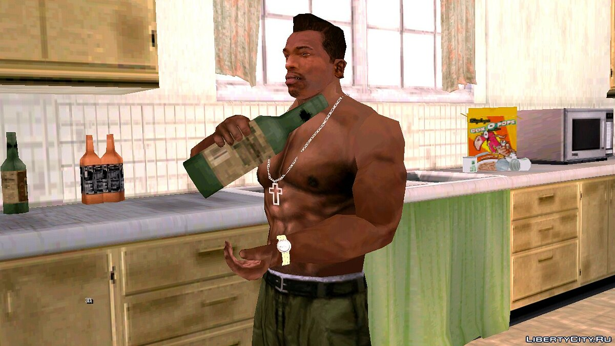 CLEO script Eating and drinking in the home for GTA San Andreas (iOS, Android)