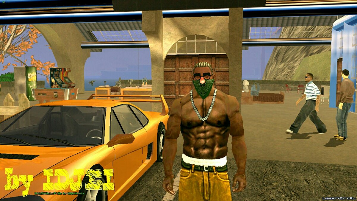 CLEO script Green Rag all shades for GTA San Andreas (iOS, Android)