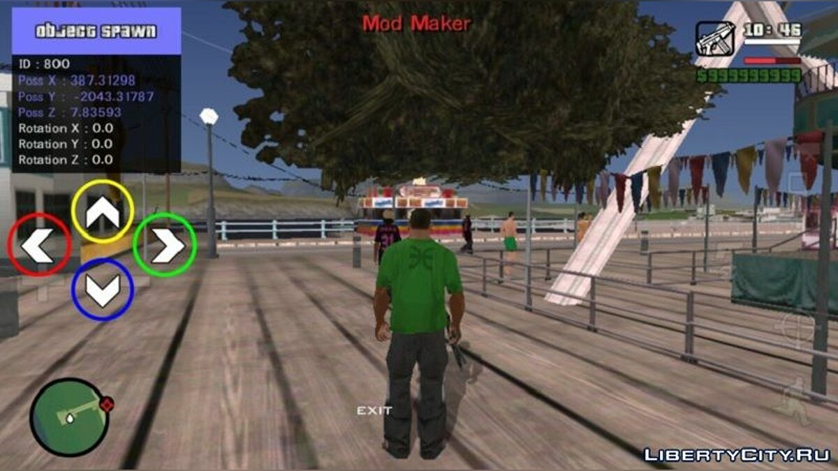 CLEO script Object spawner for GTA San Andreas (iOS, Android)