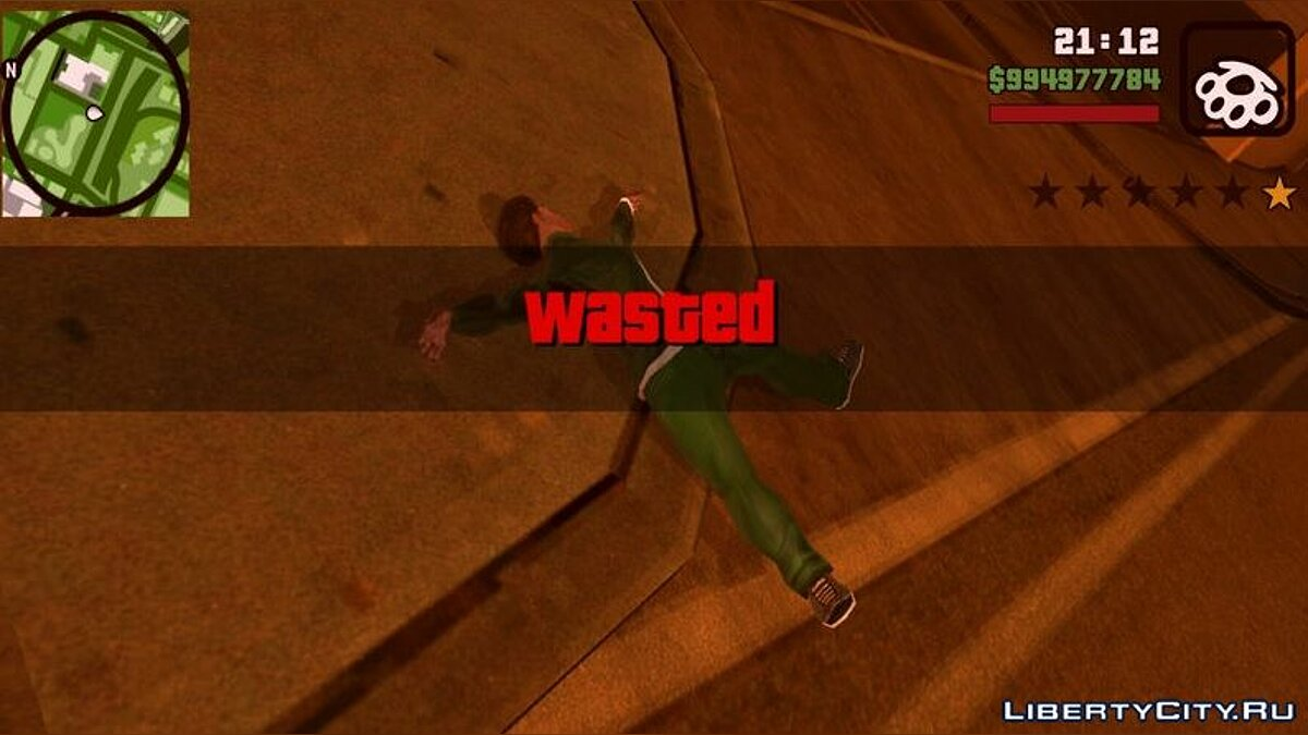 CLEO script The effect and sound from GTA 5 when killing or arresting for GTA San Andreas (iOS, Android)