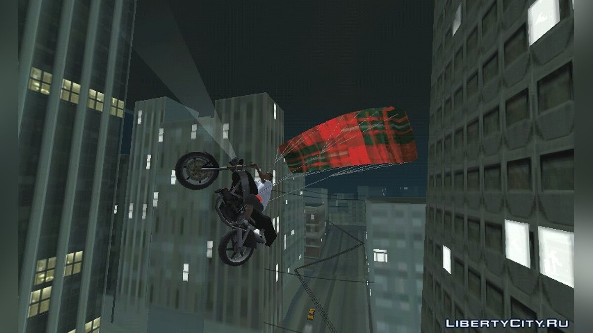 Parachute for bike for GTA San Andreas (iOS, Android) - Картинка #1