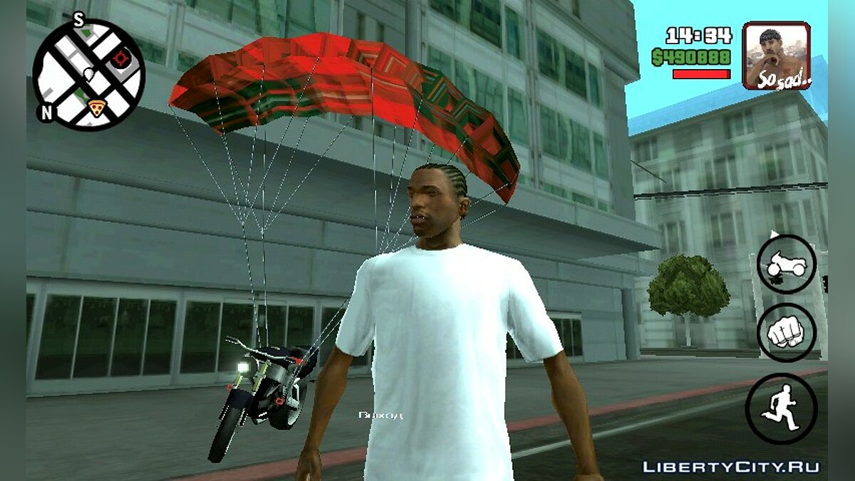 Parachute for bike for GTA San Andreas (iOS, Android) - Картинка #3