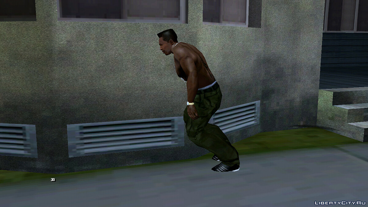 CLEO script Leaning against an object for GTA San Andreas (iOS, Android)