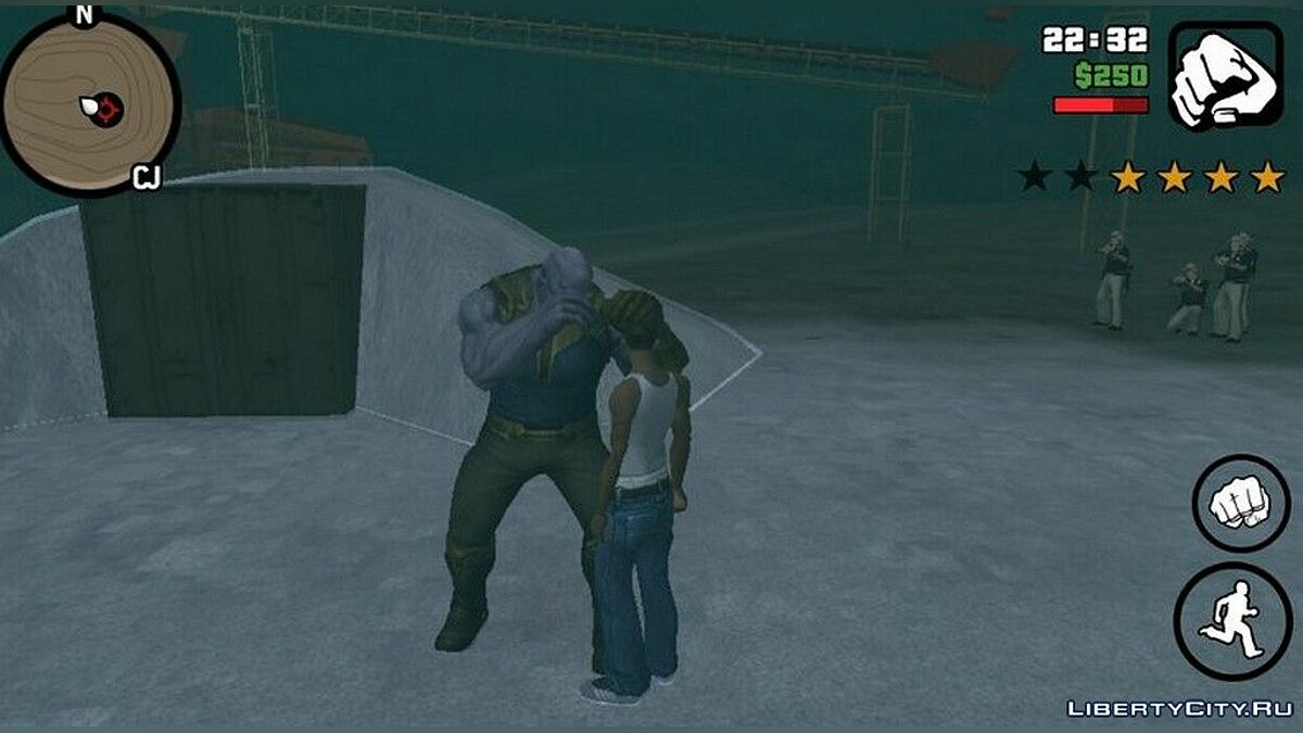 CLEO script Battle with Thanos for GTA San Andreas (iOS, Android)