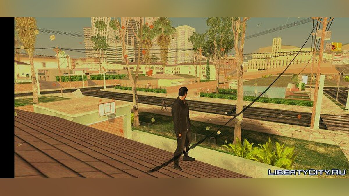 CLEO script Leaves are flying in the air for GTA San Andreas (iOS, Android)