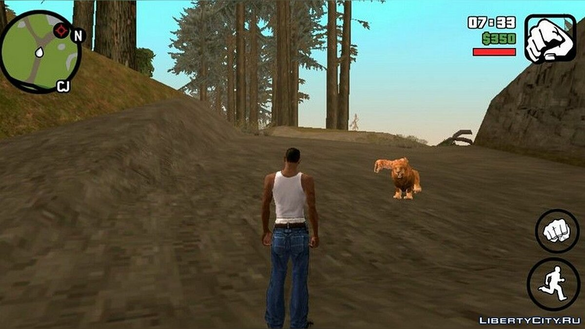 Wild Life Mod - Wild Animals for GTA San Andreas (iOS, Android) - Картинка #4