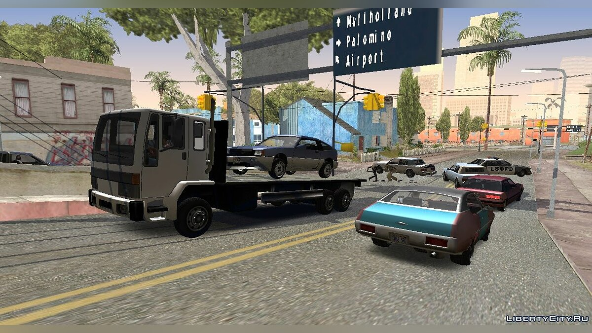 CLEO script Attach the car to the auto transporter for GTA San Andreas (iOS, Android)