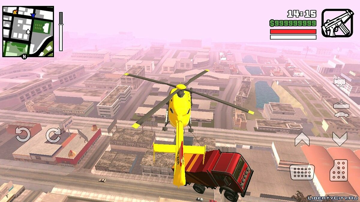 CLEO script Helicopter magnet for GTA San Andreas (iOS, Android)