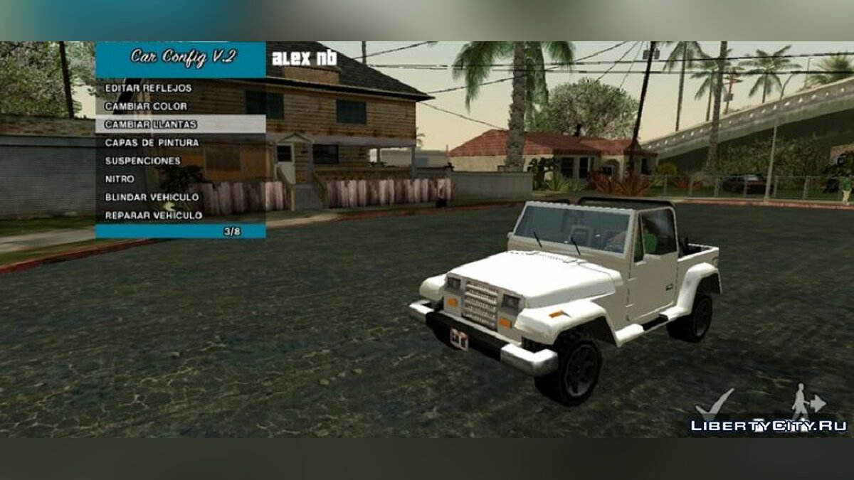 CLEO script Ability to customize your car v2 for GTA San Andreas (iOS, Android)