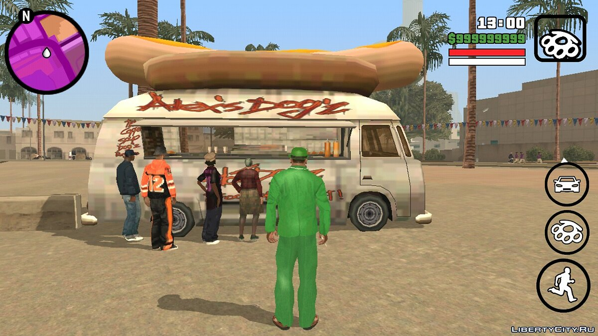 CLEO script Cafe v1.0 for GTA San Andreas (iOS, Android)