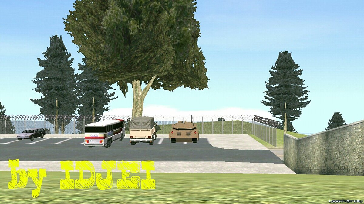 Army on the mountain in SF for GTA San Andreas (iOS, Android) - screenshot #3