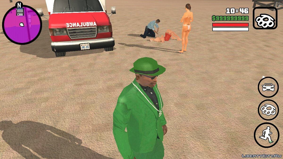 CLEO script Saving a drowned guy for GTA San Andreas (iOS, Android)