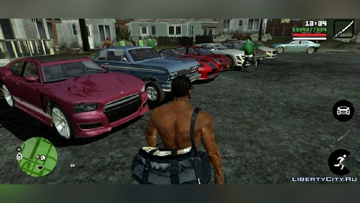 CLEO script Reflection for cars for GTA San Andreas (iOS, Android)