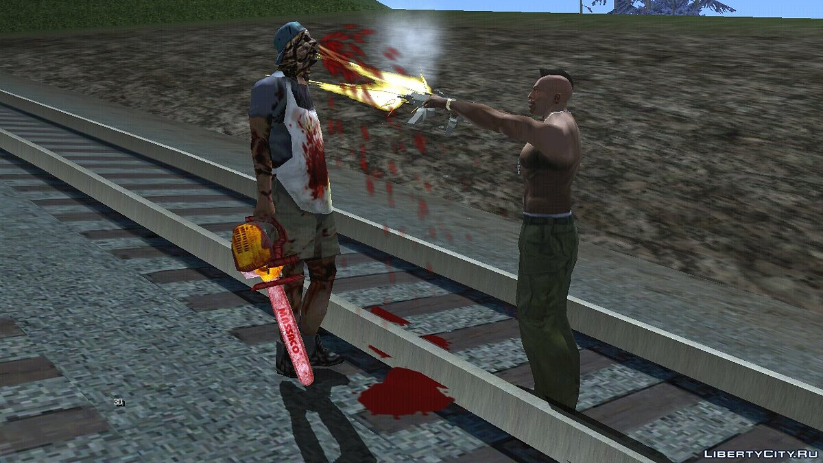 CLEO script On the rails (horror) for GTA San Andreas (iOS, Android)