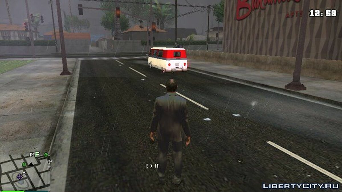 CLEO script Rain Effects on the Roads for GTA San Andreas (iOS, Android)